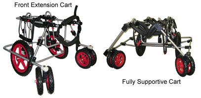 Quad dog wheelchairs